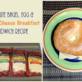 2-Minute Bagel, Egg & Double Cheese Breakfast Sandwich