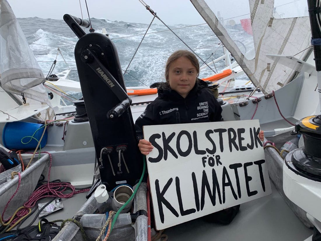 Image result for greta thunberg sailboat