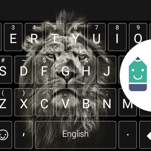 Black&White Lion Emoji Theme