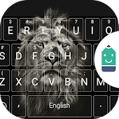 Black&White Lion Emoji Theme Android APK Download Free By Best Keyboard Theme Design