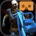 Zombi horda disparo VR juego icon