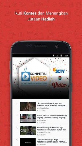Vidio - Nonton Video & TV Indonesia SCTV, Indosiar  screenshots 7