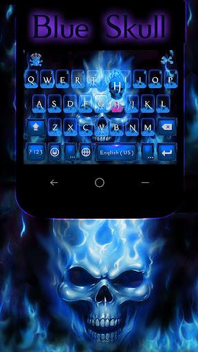 Blue Skull Emoji KeyboardTheme