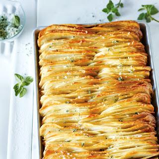 Crispy Leaf Potatoes With Oregano Salt.