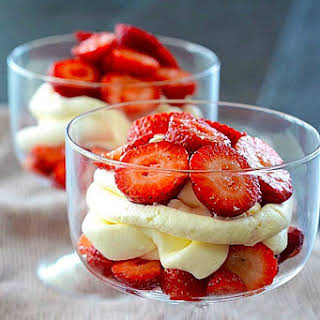 Low Carb Mascarpone Cheese with Strawberries.