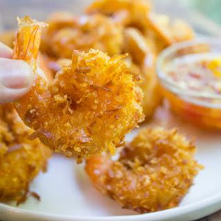 Coconut Shrimp with Sweet Mango Habanero Dipping Sauce.