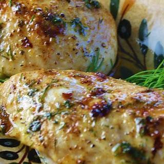 Three-Ingredient Baked Chicken Breasts.