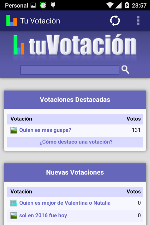 Tu Votación- screenshot