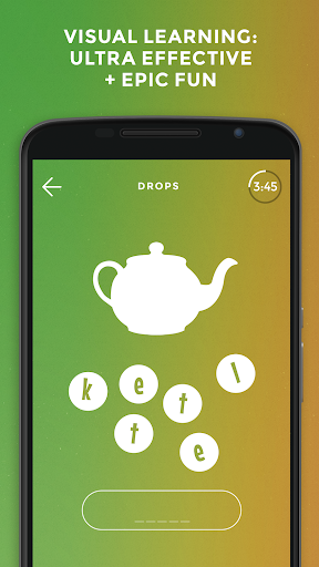 Learn Turkish language and words for free – Drops screenshot 1