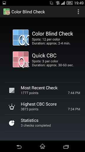 Color Blind Check screenshot for Android