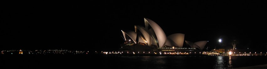 Photo: Last view of the the opera house by night.