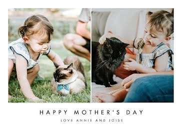 Cat Mom Furever - Mother's Day Card Template