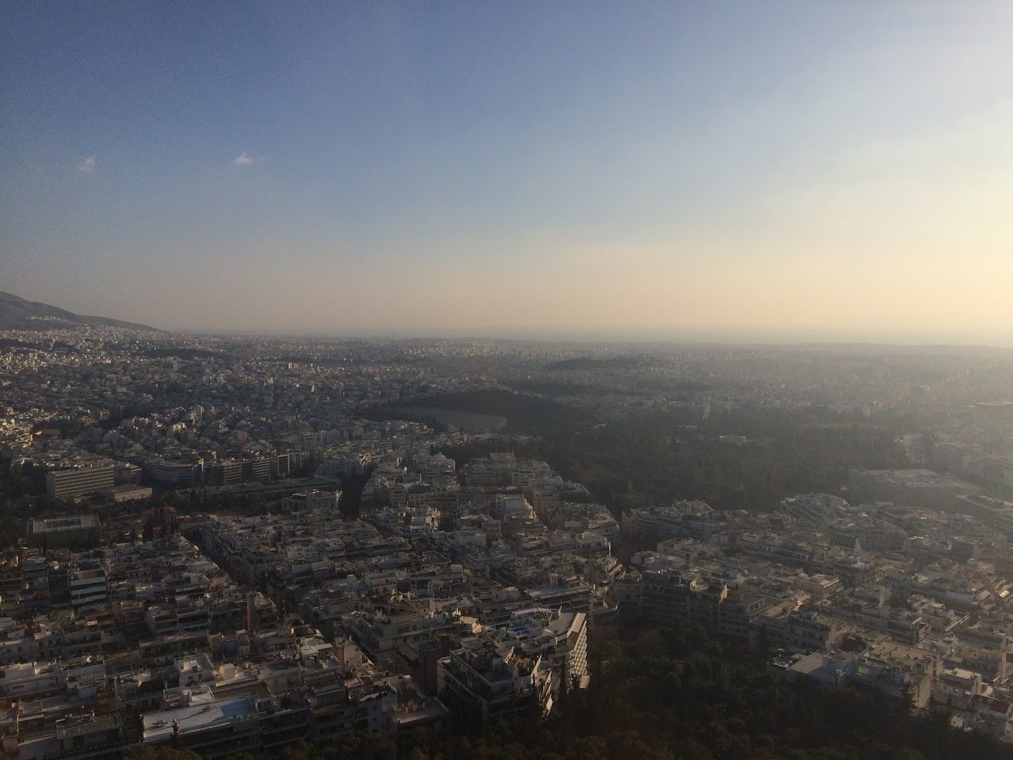 View from Lycabettus hill, Athens, Greece