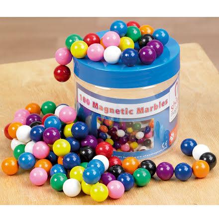 Magnetkulor färgade - 100 st i burk - 7763-660-1