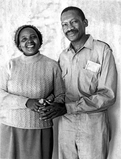 Struggle icons Zondeni Veronica and Robert Sobukwe soon after his release from Robben Island.
