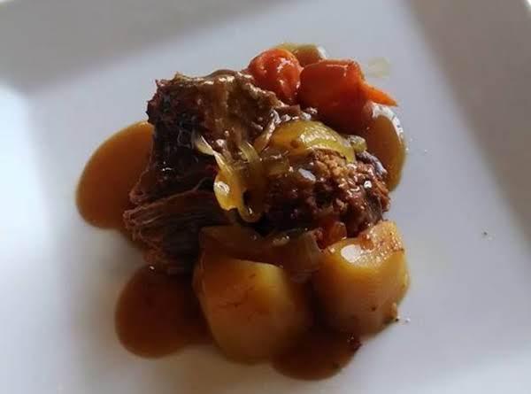 Pork Stuffed Pot Roast Crockpot Dinner Recipe