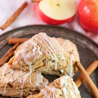 Glazed Apple Cinnamon and Buttermilk Scones.