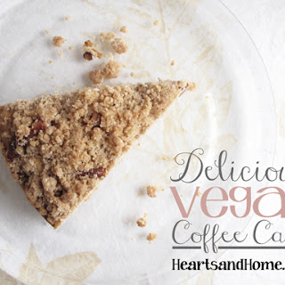 Delicious Vegan Coffee Cake.