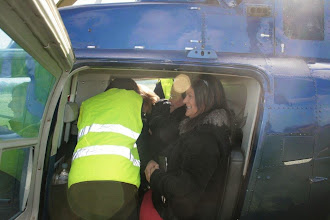 Photo: Kay, Barry and Irene get settled in the back