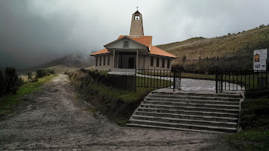 Photo: Day 1: This is a beautiful little church near the top of Pichincha. I believe the church was called La Dolorosa because of the catholic relic located there called La Dolorosa.