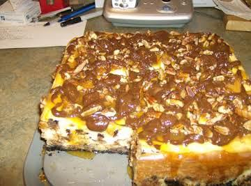 Chocolate Chip Chsecake/Fudge Truffle Topping
