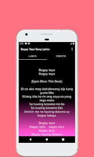 Song Lyrics Bagay Tayo for PC-Windows 7,8,10 and Mac apk screenshot 3