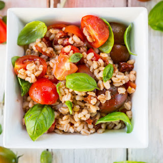 Barley with Fresh and Sun-Dried Tomatoes.