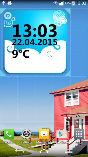 天气 時鐘 小工具