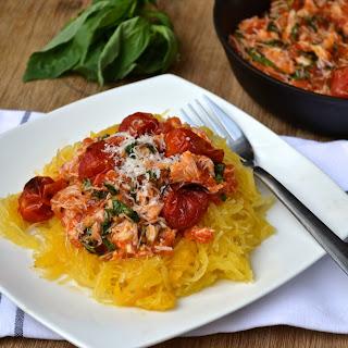 Crab, Roasted Tomato & Basil Spaghetti Squash