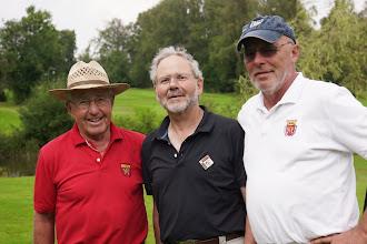 Photo: Dieter Stöhr, Hans-Peter Ruhl, Manfred Walter - erprobte und erfolgreiche Herrengolfer, die ihr Potential nicht ganz ausschöpften.