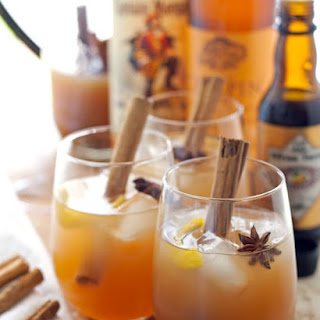 Autumn Spiced Rum Cider Cocktail.