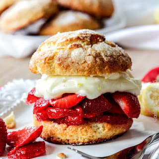 Strawberry Shortcakes with Lemon Curd Whipped Cream