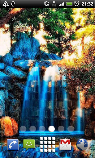 Blue Waterfalls Live Wallpaper