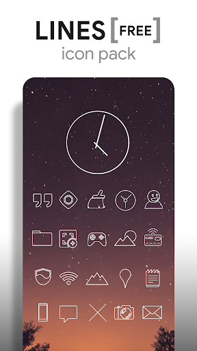 Lines - Icon Pack (Free Version) Apk 1