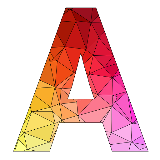 Alphabets Poly Art: Paint by Sticker, Poly Colour Icon