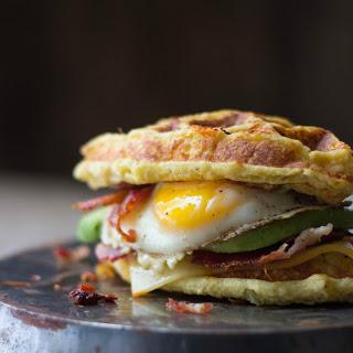 The Ultimate Cauliflower Waffle Breakfast Sandwich Recipe