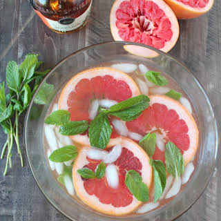 Grapefruit Ginger Spiced Rum Punch.