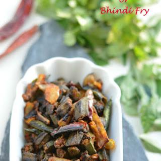 Okra Stir Fry Or Bhindi Fry