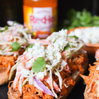 Open-Face Buffalo Chicken Subs with Ranch Slaw