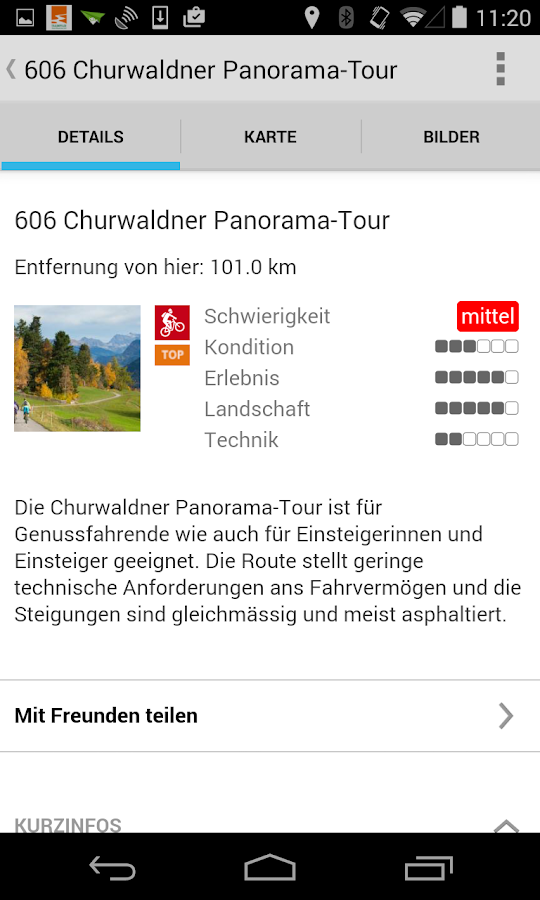 Graubünden mountain biking- screenshot