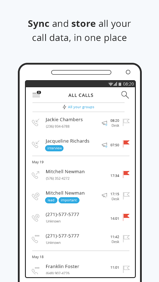 IOVOX Preview: Sync, Collaborate & Share Calls- screenshot
