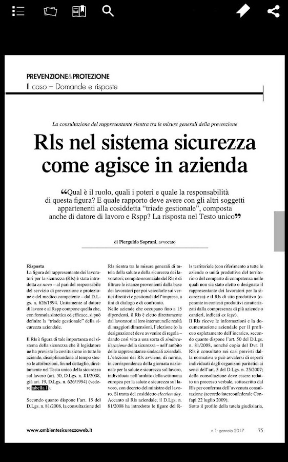 Ambiente & Sicurezza- screenshot