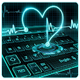 Neon Heart Keyboard Theme icon