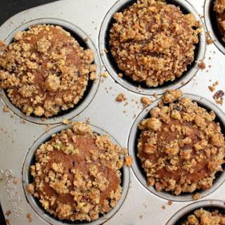 Pumpkin, Chocolate Chip, and Pistachio Crumb Muffins
