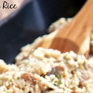 Parmesan Mushroom Rice