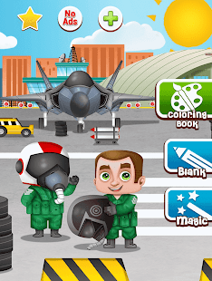 Planes: painting game. Beautiful coloring pages.- screenshot thumbnail