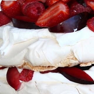 Strawberries and Cream Cloud Cake.