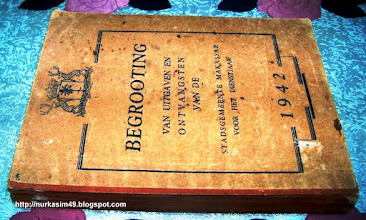 Photo: Anggaran Pendapatan dan Belanja Kota Makassar Tahun Anggaran 1942. http://nurkasim49.blogspot.com/2011/12/iii.html