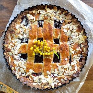 Raspberry and Almond Linzer Torte