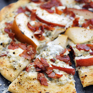 Roasted Pear, Blue Cheese & Bacon Pizza